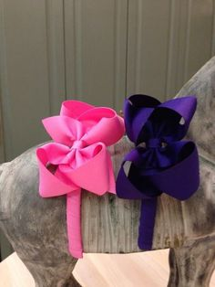 """1/2"""" Grosgrain Headband with 4"""" Bow Size 3T-8 Price: $8.00, Free Shipping Options: Pink (qty 2), Purple (qty 2)"""