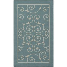 Found it at Wayfair - Home & Garden Light Blue Indoor/Outdoor Area Rug