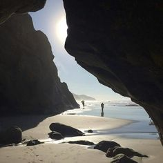 Sea Cave at Hug Point, Oregon Coast