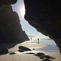 Sea Cave at Hug Point, Oregon Coast