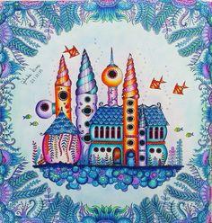 Colorido feito pela Gabriela Lima - lindo castelo do fundo do mar