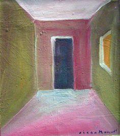 """Interior 3"" acrylic on canvas, 23 x 22 cm. , 2001."
