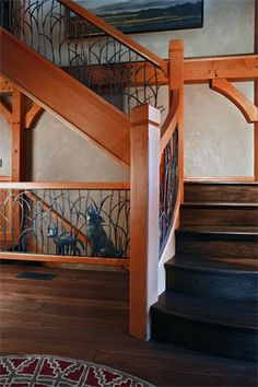 Railing details are inspiring --- home by TFBC member Glenville Timberwrights.