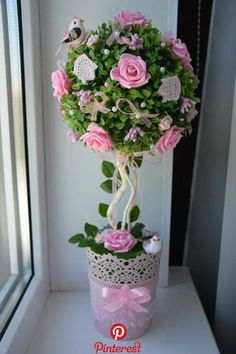 Discover thousands of images about PINK BLUSH & GRAY Kissing Ball. Topiary Centerpieces, Bridal Shower Centerpieces, Baby Shower Decorations, Wedding Decorations, Pearl Centerpiece, Christmas Decorations, Giant Paper Flowers, Diy Flowers, Flower Girl Bouquet