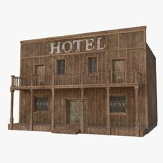 Old Western Towns, Old West Town, Home Music Rooms, House 3d Model, Ho Scale Buildings, Pop Stick, Pallet House, Wooden House, Model Trains