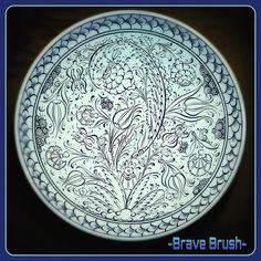 30 cm kase - bowl  #gunaydin #goodmorning #cini #dekor #design #dizayn #cizim #tasarim #iznik #tile #art #çini #desen #style #instalike #instagood #instaart #nicea #draw #bravebrush #work #handmade #sanat