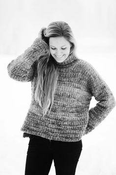 Skappegenseren Turtle Neck, Women's Fashion, Pullover, Knitting, Crochet, Sweaters, Ideas, Design, Breien