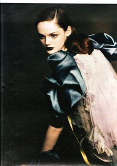 Lisa Cant photographed by Paolo Roversi for W Magazine, October 2004.