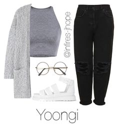 Grey Outfit with Yoongi by infires-jhope