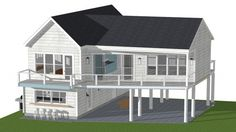 house on stilts florida keys Beach House Plans, Dream House Plans, Modern House Plans, Small House Plans, Nutec Houses, Small Beach Houses, Sims, Home Design Software, House On Stilts