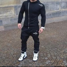 Mens Full Fleece Tracksuit Hooded Jogging Bottms Joggers pant Hoody | Clothes, Shoes & Accessories, Men's Clothing, Activewear | eBay! Jogger Pants, Joggers, Sport Fashion, Mens Fashion, Ropa Hip Hop, Jogging Outfit, Full Tracksuit, Gym Outfit Men, Jogging Bottoms
