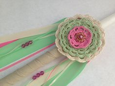 Your place to buy and sell all things handmade Easter Candle, Leaf Clover, Footprints, Three Kids, Easter Ideas, Hand Crochet, Crochet Flowers, Happy Easter, Wedding Designs