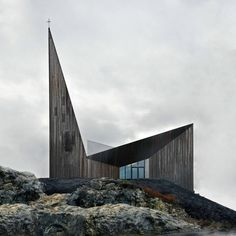 "The "" Community Church of Knarvil "" is located high on a hillside in the Norwegian town. This building was designed from Reiulf Ramstad Architects in 2010 #religiousarchitecture"