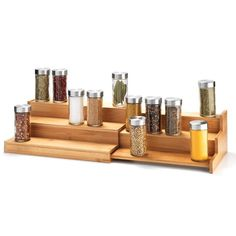 3-Tier Bamboo Expanding Shelf | AVON Shop Avon online at: https://youravon.com/jenbertram #MoxieMavenBeauty