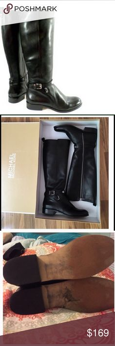 Michael Kors Black Riding Boots In really good used condition......more pics coming😀 Michael Kors Shoes