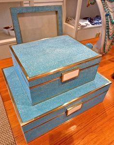 Aerin Lauder Shagreen boxes