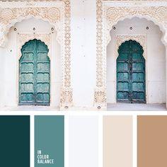 бежевый, белый, грязный белый, изумрудный, коричневый, нефритовый, оттенки изумрудного, оттенки коричневого, оттенки нефритового цвета, светло серый, темно-изумрудный, теплый и холодный.