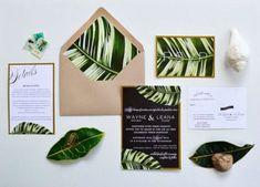 33 Impressive Tropical Wedding Stationary Ideas