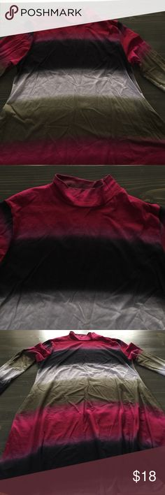 NWOT Pink/navy blue/white/army green size XL TUNIC NWOT Size extra-large, pink/navy blue/white/army green longsleeve crew/turtle neck tunic. Sorry for the wrinkles! Trying to get my new listings on ASAP. Will add measurements as soon as possible! 92% polyester 8% spandex! GORGEOUS! The colors are absolutely beautiful together! Tops Tunics