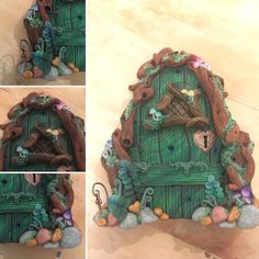 Forest Fairy Door. Sculpture Clay, Sculptures, Forest Fairy, Fairy Doors, Polymer Clay Creations, Fairy Houses, Gnomes, Pottery, Diy Crafts