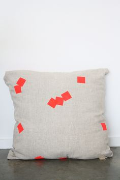 Soften the Blow:  Square Drops pillow by Carolin Hurley