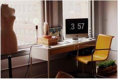 desk by the window
