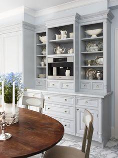 Eat in Kitchen, built in Espresso machine, photographer: Stacey Brandford, designer: Sarah Richardson Design via House & Home
