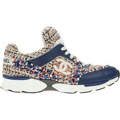 02e97bb9f57 Pre-owned Chanel 13S Multi-Color Tweed Sneakers ( 1