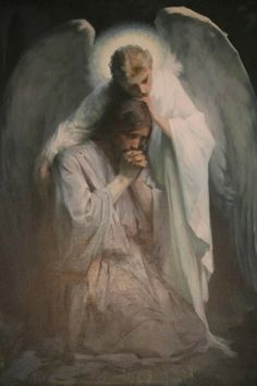 "#FransSchartz - ""Agony in the Garden"" (Luke 22:39-46) by Frans Schwartz (1850—1917), 1898, Oil on canvas, Nørresundby Kirke, Nørresundby, Denmark."