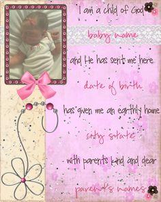 Birth Announcement--Girl