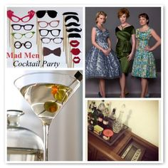 Mad Men Cocktail Party {Inspiration Board 23} - Melissa Creates