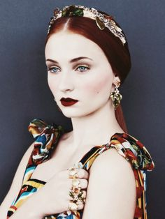 Sophie Turner in the December issue of US Vogue shot by Patrick Demarchelier