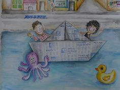 Aquarelle for friends Friends, Painting, Custom Art, Special Gifts, Amigos, Painting Art, Paintings, Boyfriends, Drawings