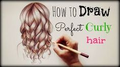 how to draw realistic curly hair step by step - Google Search