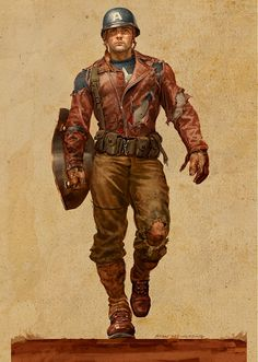 "Captain America concept character design for ""Captain America: The First Avenger"" by Ryan Meinerding Marvel Comics, Arte Dc Comics, Bd Comics, Marvel Heroes, Comic Book Characters, Comic Character, Comic Books Art, Comic Art, Capitan America Marvel"
