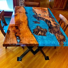 Wohnen Turquoise resin river dining table Etsy Warmboard Versa Staple Up Many people are confused ov