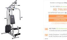 Estação de Musculação Smart 8000 23 Exercícios Cinza e Preto Life Zone << R$ 71999 >>