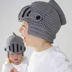 How cool! child's handmade knight helmet hat by ruby & custard   notonthehighstreet.com