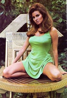 "tohaveandhavenot86: ""Raquel Welch - 1960s Source: Pinterest """