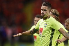 Mikael Lustig of Sweden during the FIFA World Cup Qualifier between Sweden and Netherlands at Friends arena on September 6, 2016 in Solna, Sweden.