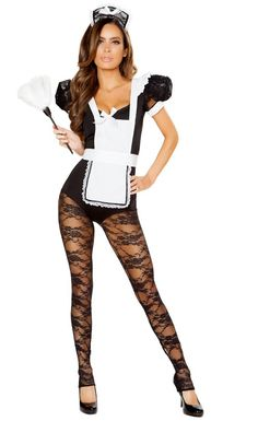 Parlor Maid Hottie Costume New Halloween Costumes 2017 Sexy Adult Costumes, Costumes For Women, Maid Costumes, White Costumes, Woman Costumes, Hottie Women, French Maid Lingerie, Catsuit Costume, French Maid Costume