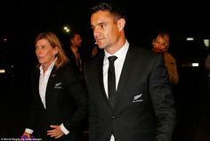 The night after the night before, Carter arrives at the World Rugby Awards at which he was nominated for the top player of the year honour