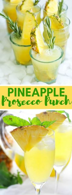 All you need is 5 fixings and 5 minutes for this invigorating, delightful mixed drink. Prosecco Punch, Prosecco Cocktails, Cocktail Drinks, Summer Cocktails, Fun Drinks, Quick Recipes, Healthy Recipes, A Food, Food And Drink