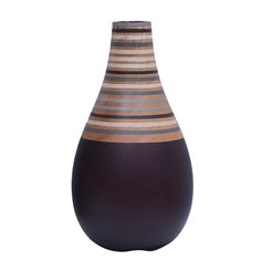 Stripe Wooden Vase
