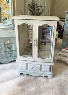 Shabby Chic Antique Jewelry Armoire | Pinterest Mini Mall Viral Board |  Pinterest | Armoires