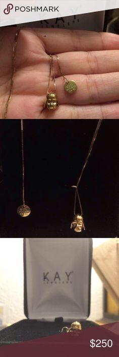 Star Wars necklace Darth Vader 10k yellow Star Wars necklace Darth Vader 10k yellow gold from Kay jewelers. Amazing gift for a die hard Star Wars fan! NEVER BEEN WORN. #Starwars #star #wars #darth #vader #sith #anakin #skywalker #darkside #gold #10k #necklace Kay Jewelers Jewelry Necklaces