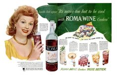 1948 Lucille Ball Roma Wine Coolers Hollywood Glamour Magazine Spread Poster Ad Vintage Actress Come Hollywood Star, Vintage Hollywood, Hollywood Glamour, Vintage Wine, Vintage Ads, Vintage Makeup, Vintage Photos, Joseph, I Love Lucy Show