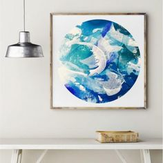 Items similar to Abstract Art Print, Cosmic Beach Circle Print, Blue & Turquoise Round Art Print, Giclee Print on Etsy Artist Painting, Figure Painting, Beach Print, Artwork Prints, Original Artwork, Modern Art, Art Pieces, Abstract Art, Tapestry