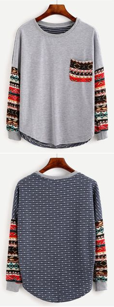 Tribal tshirt. Cozy shirt for autumn.