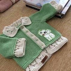 Crochet Cat Blanket Pattern 29 Ideas For 2019 Crochet Patterns Free Women, Baby Knitting Patterns, Knitting Designs, Baby Patterns, Knitted Baby Cardigan, Knit Baby Sweaters, Knitted Baby Clothes, Knitting For Kids, Crochet For Kids